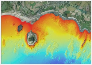 An example of our multi-beam bathymetry around St. Michael's Mount, Cornwall.